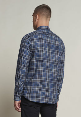 Mens Herringbone Check Shirt | Shop Dstrezzed at Wallace and Gibbs