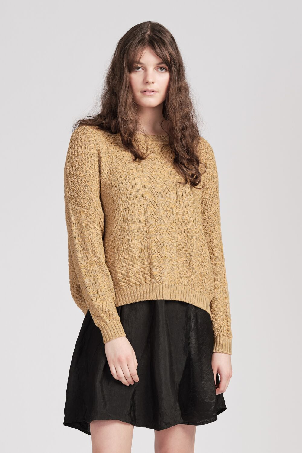 Willoughby Jumper - Oatmeal/Honey
