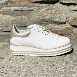 Top End Siobhan - White/Gold Crush | Shop at Wallace and Gibbs NZ