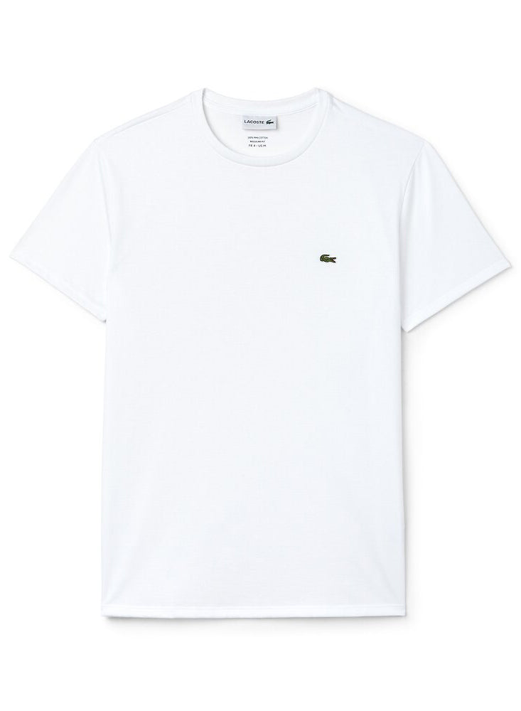 Lacoste Mens Basic Crew Neck Tee | Mens Clothing at Wallace and Gibbs