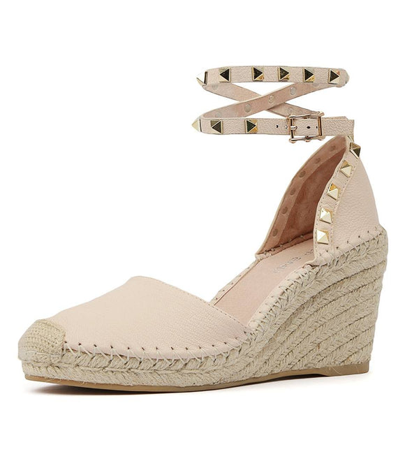 Mikkel Wedge Nude Leather