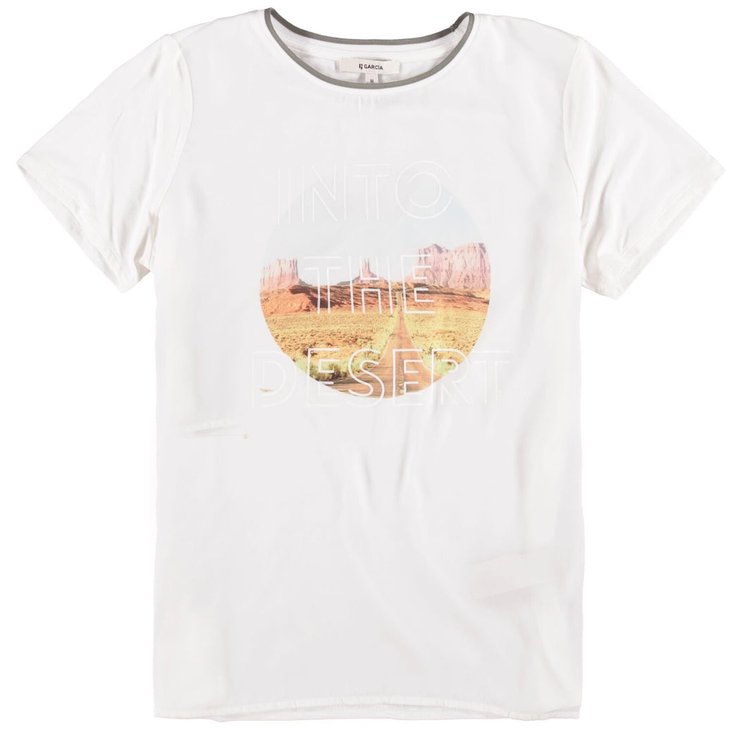 Womens SS T-Shirt - Off White | Shop Garcia at Wallace and Gibbs