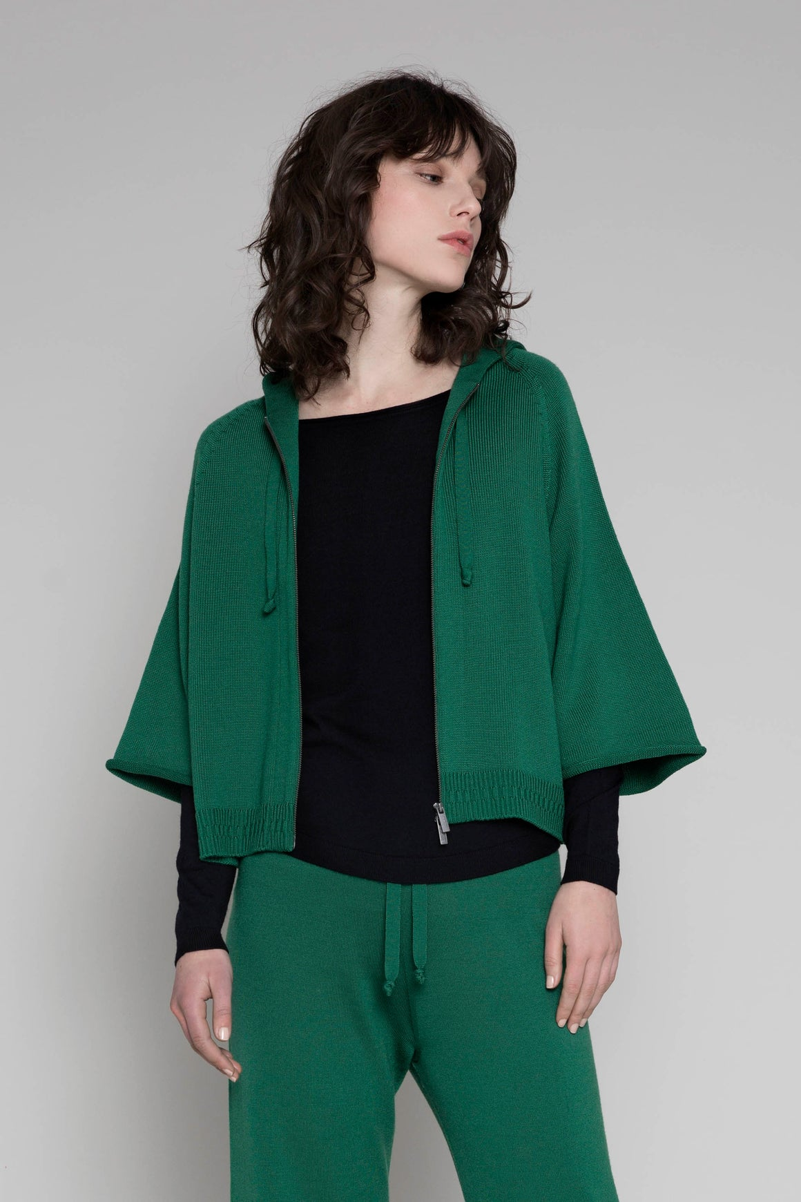 Standard Issue Zip Crop Jacket - Emerald | Shop Standard Issue Wallace and Gibbs