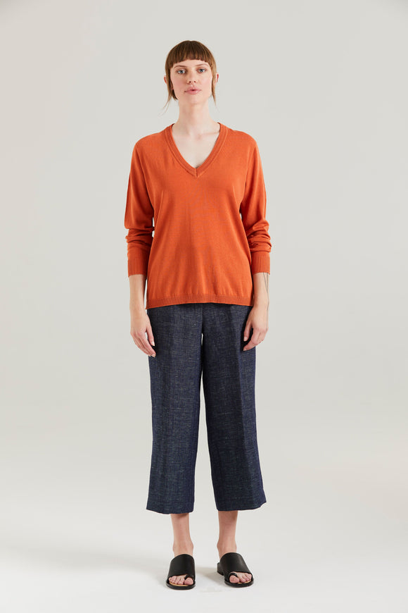 Standard Issue Ripple Trim V Sweater