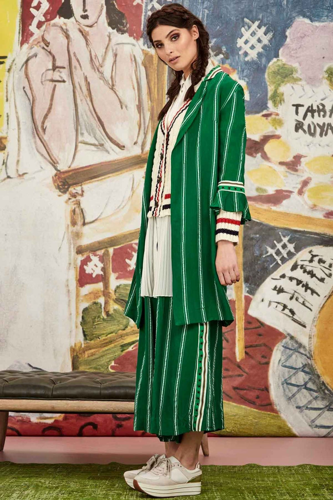 Star Duster Jacket -Green Stripe | Shop Curate online & instore at W&G