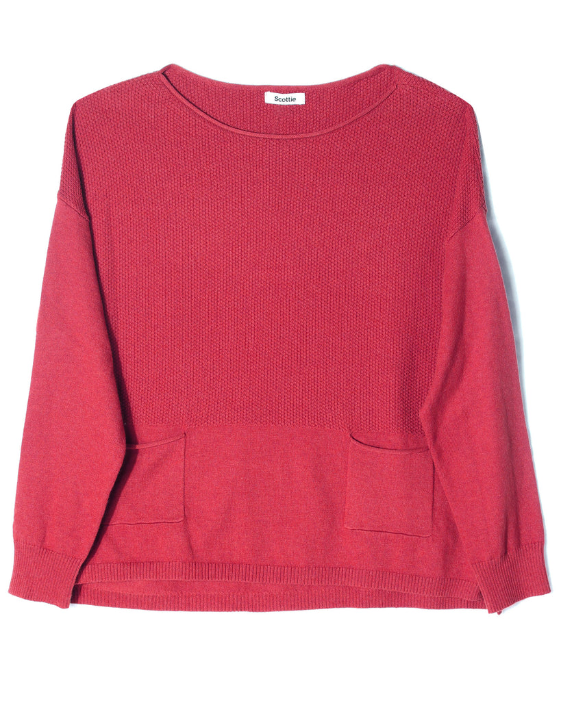 Cropped Sweater - Alpine Rose