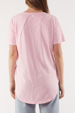 Foxwood Mackenzie SS Tee - Pink | Shop Foxwood Wallace & Gibbs NZ