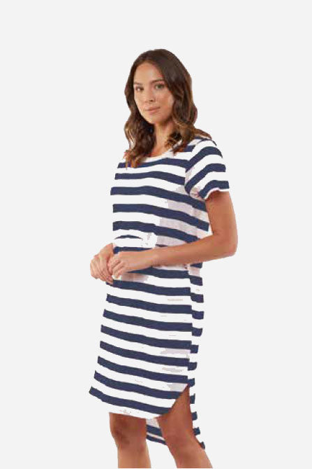 Foxwood Bayley Dress Navy/White Stripe | Shop Foxwood Wallace & Gibbs …