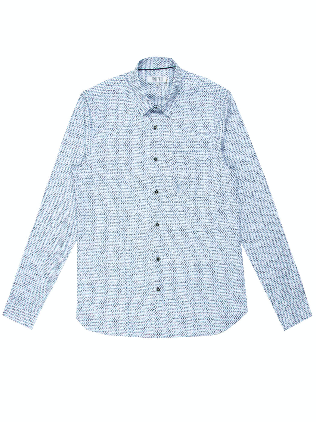 Mens Bicker Shirt - Sky | Shop Pearly King at Wallace and Gibbs NZ