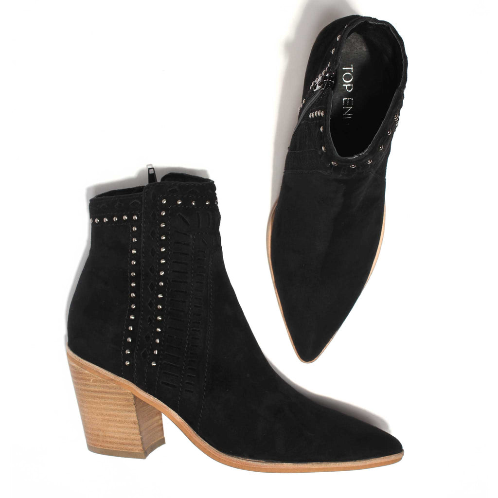 Merritts Boot - Black Suede
