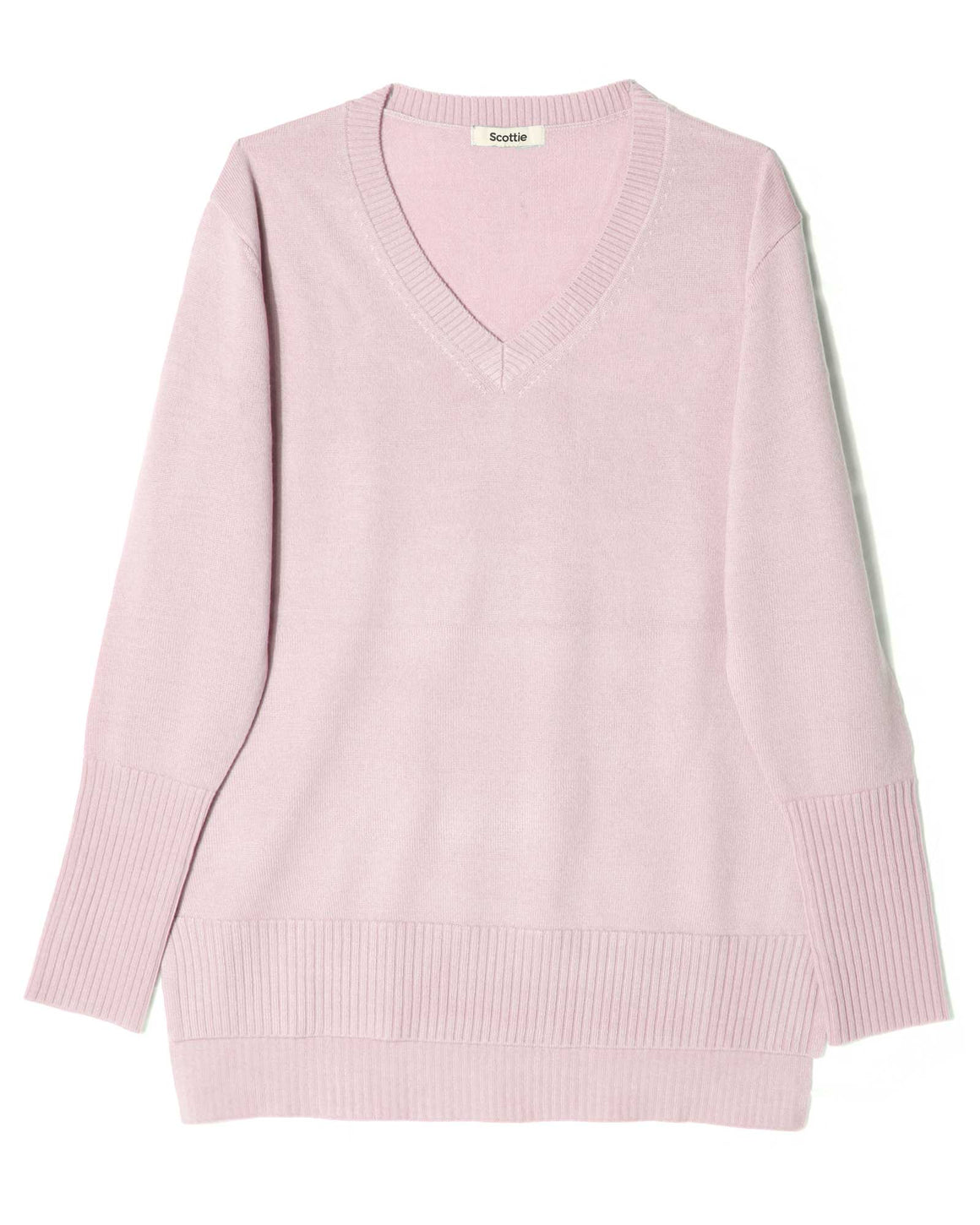 Merino V-Neck Sweater - Blush