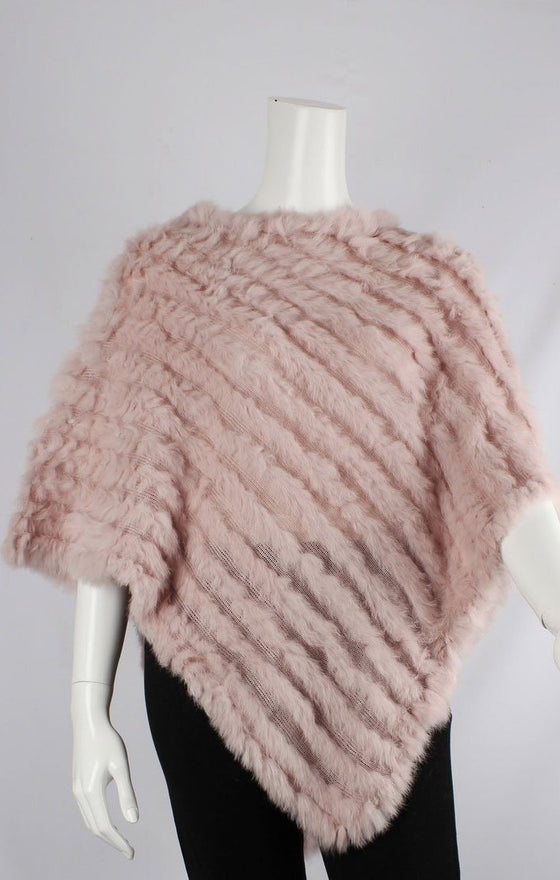 Rabbit Fur Poncho - Blush | Shop Alice & Lily at Wallace and Gibbs NZ