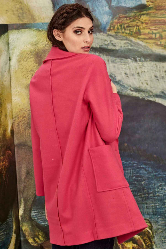 Curate Checker Out Coat - Pink | Shop Curate by Trelise Cooper W&G