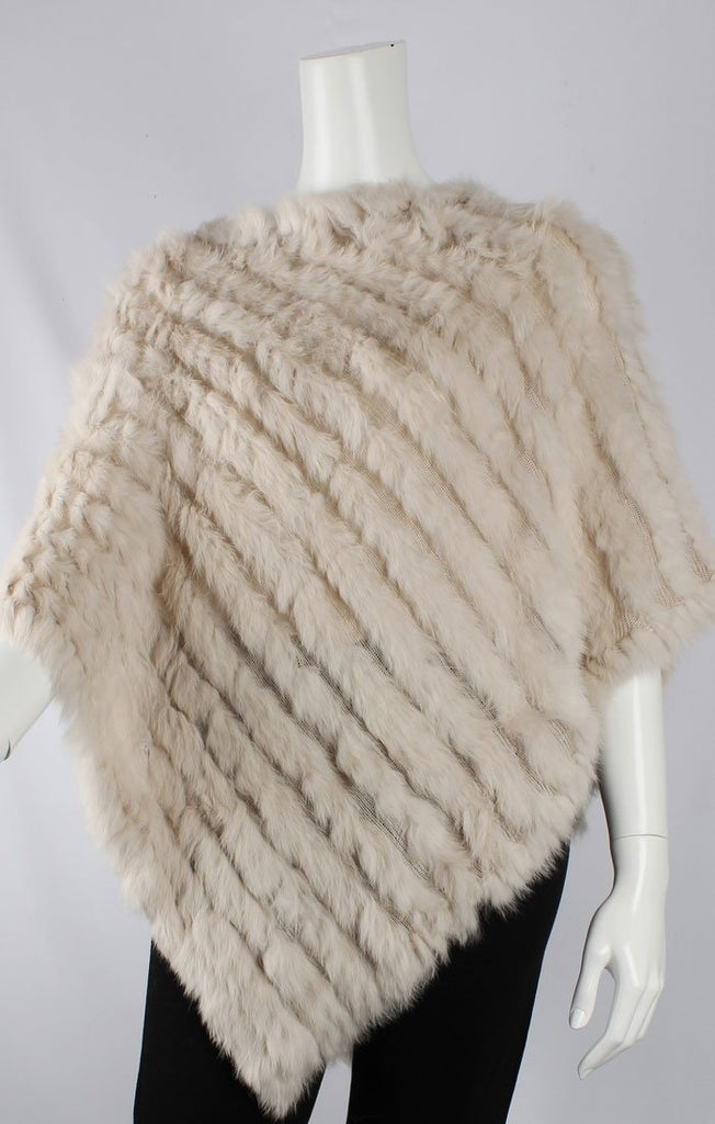 Rabbit Fur Poncho - Cream | Shop Alice & Lily at Wallace and Gibbs NZ