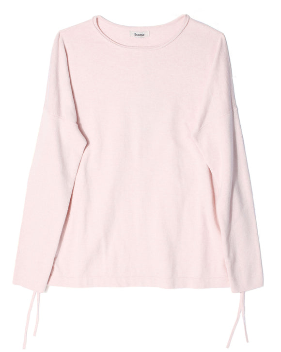 Cropped Jumper with Side Ties - Pink Calico
