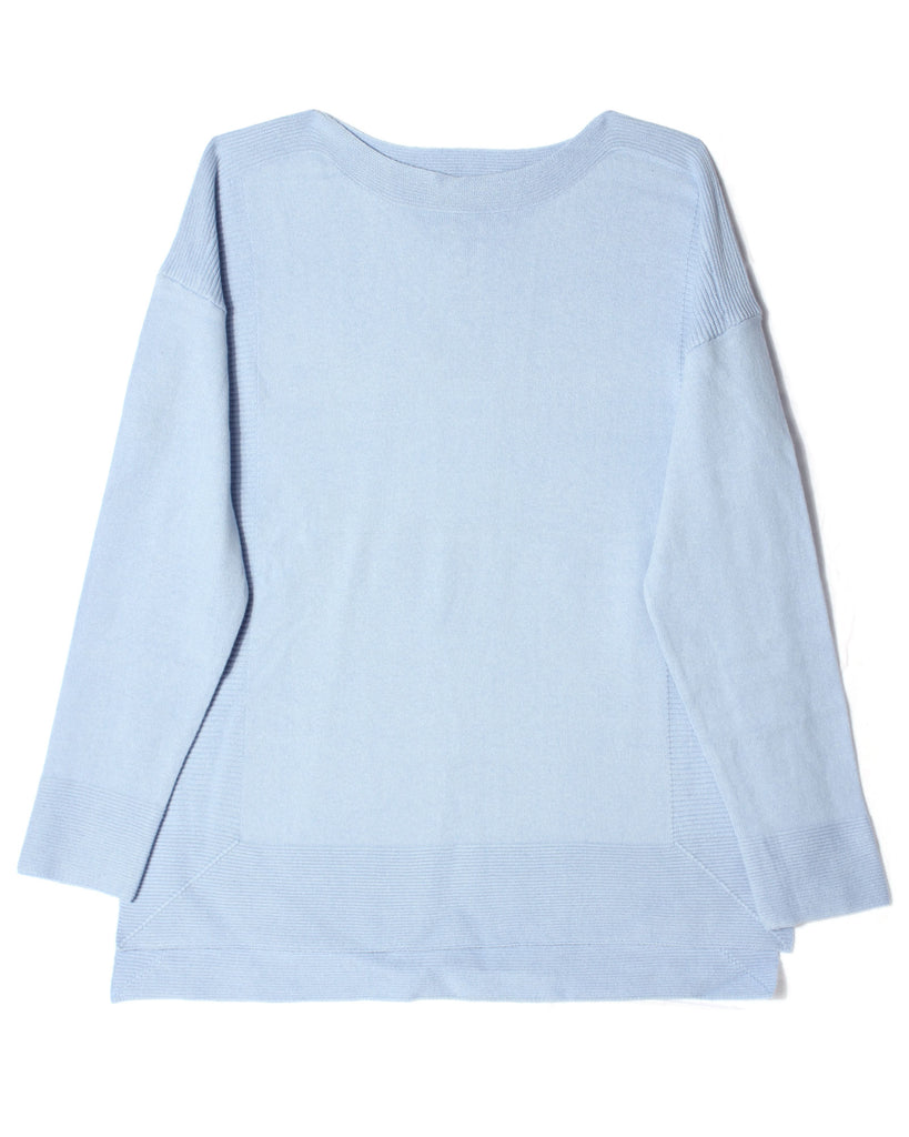 Drop Shoulder Sweater - Blue Flax