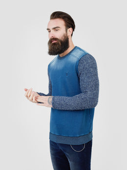 Crux Crew Neck Sweatshirt Indigo | Shop Pearly King at Wallace and Gibbs NZ