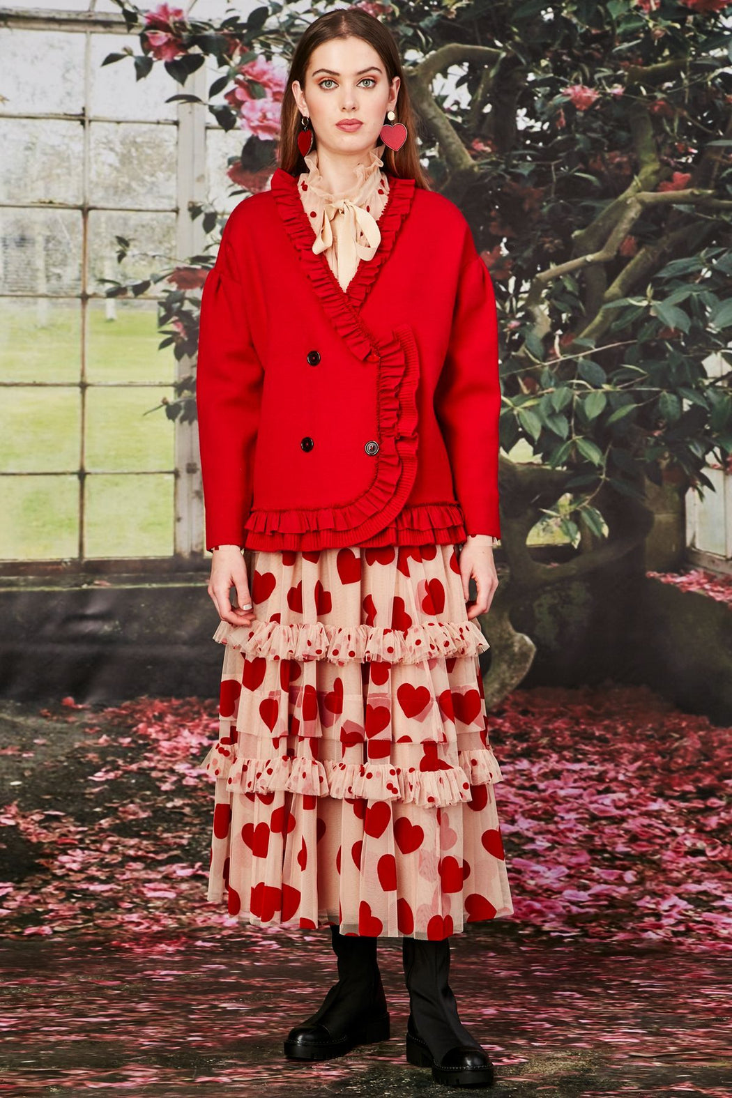 Trelise Cooper Frill You Take Me Home? Knit Red | Shop at Wallace and Gibbs