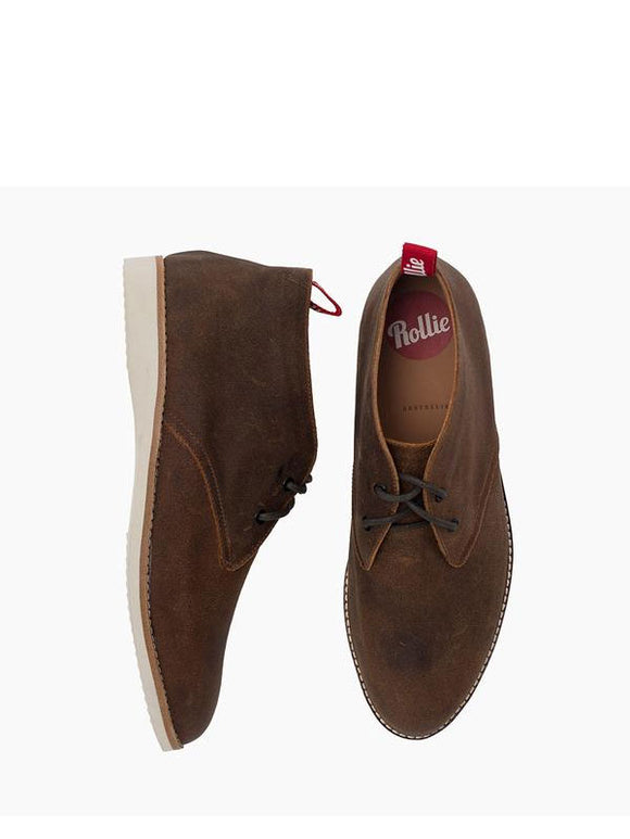 Rollie Chukka Mens - Desert Suede | Shop Rollie at Wallace and Gibbs