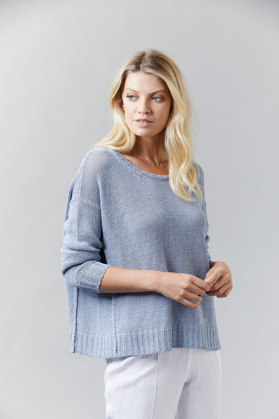 Visage Wide Cropped Jumper Dove