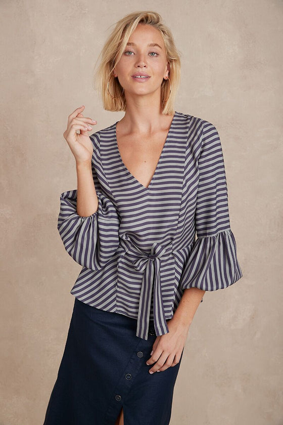 Thea Blouse Astar Stripe | Shop Arlington Milne