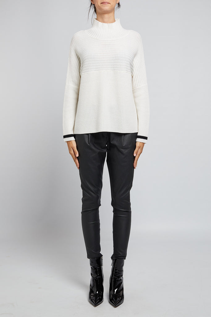 Cable Fiona Rib Sweater - Milk