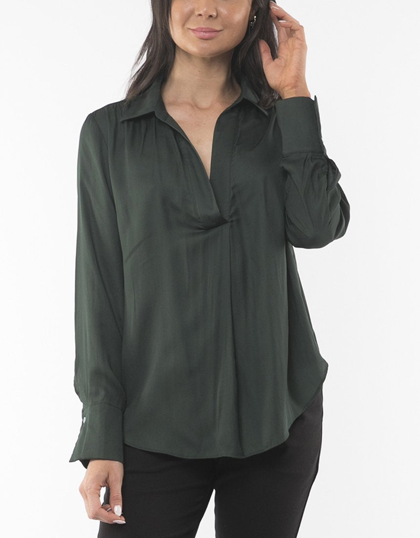 Foxwood Ulla Shirt Green | Shop Foxwood Wallace & Gibbs NZ