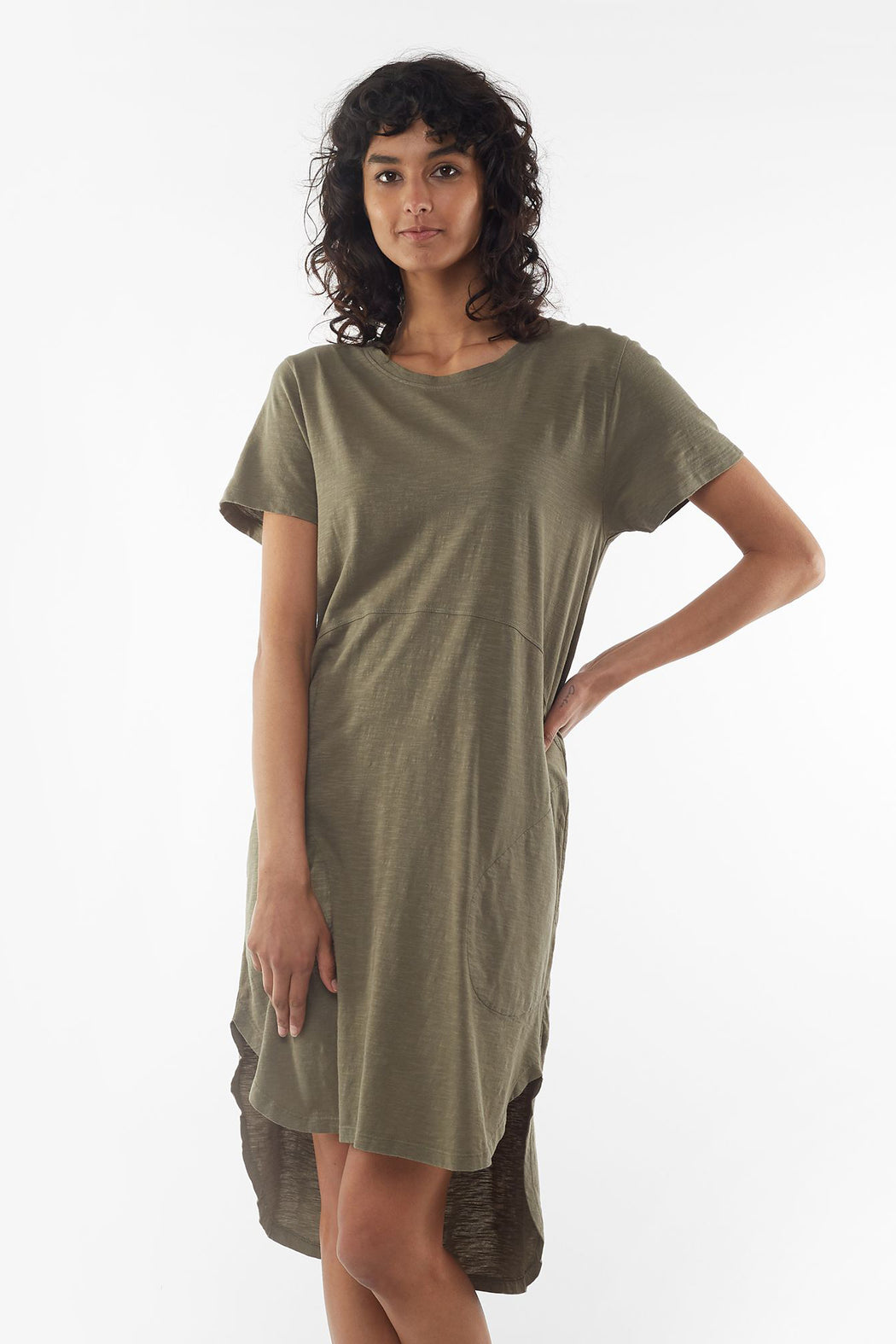 Foxwood Bayley Dress - Khaki | Shop Foxwood Wallace & Gibbs NZ