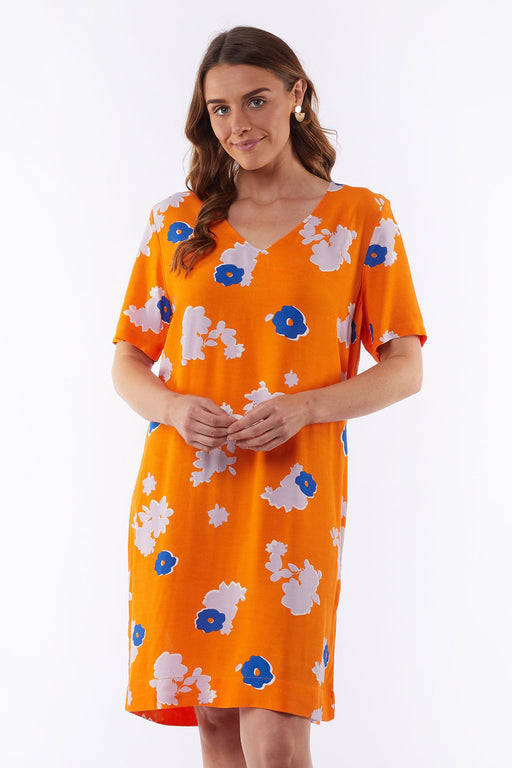 Elm Clover Floral Shift Dress - Orange | Shop Elm at Wallace & Gibbs NZ