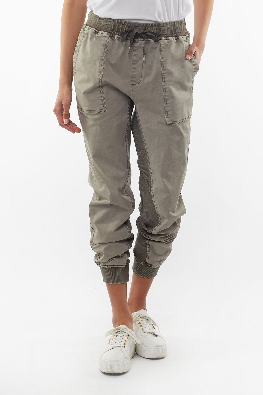 Elm Let Loose Jogger - Khaki | Shop Elm at Wallace & Gibb