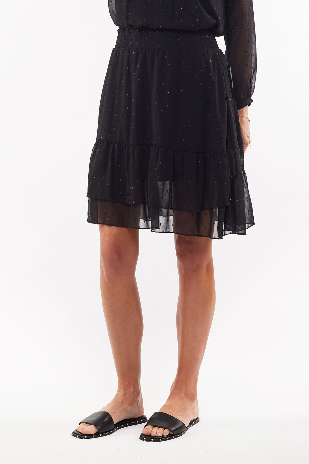 Foxwood Rhodes Skirt - Black | Shop Foxwood Wallace & Gibbs NZ