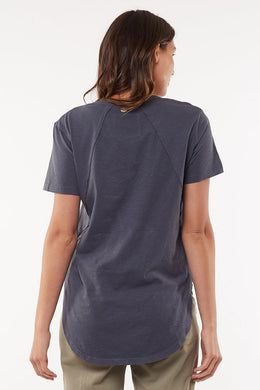 Foxwood Mackenzie SS Tee - Navy | Shop Foxwood Wallace & Gibbs NZ