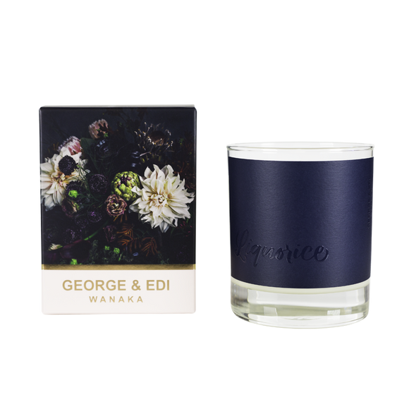 Dark Side Candle Boxed Liquorice | Shop George & Edi Wallace and Gibbs