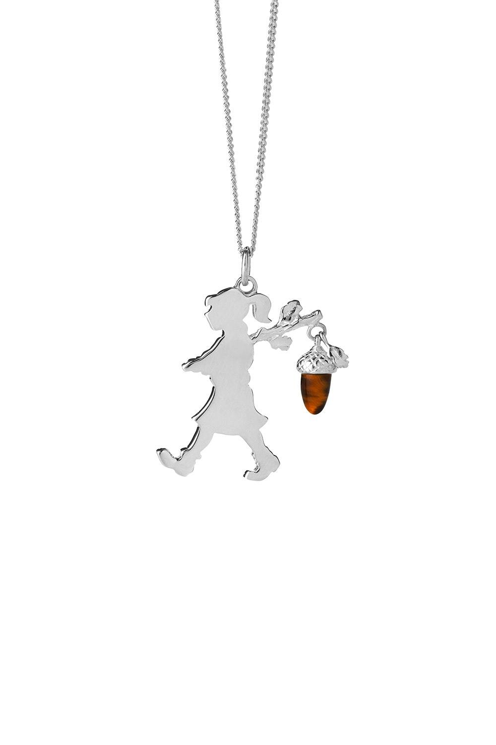 Runaway Girl With An Acorn Necklace - Silver shop online or in store at IKON