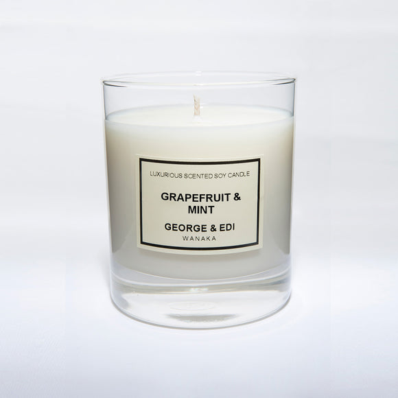 Candle - Grapefruit Mint | Shop George & Edi at Wallace and Gibbs