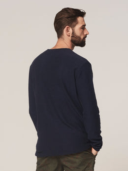 Mens L/S Crew - Navy | Shop Dstrezzed at Wallace and Gibbs