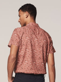 Mens S/S Shirt -Resort Old Pink | Shop Dstrezzed at Wallace and Gibbs