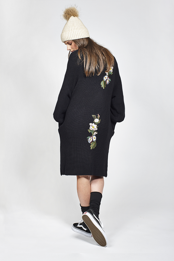 Ketz-ke Double Raise Cardigan - Black