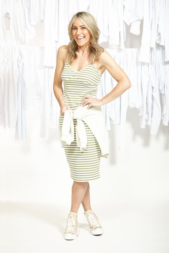 Ketz-ke Stripe Layer Cami - Khaki | Shop Ketz-ke at Wallace & Gibbs NZ