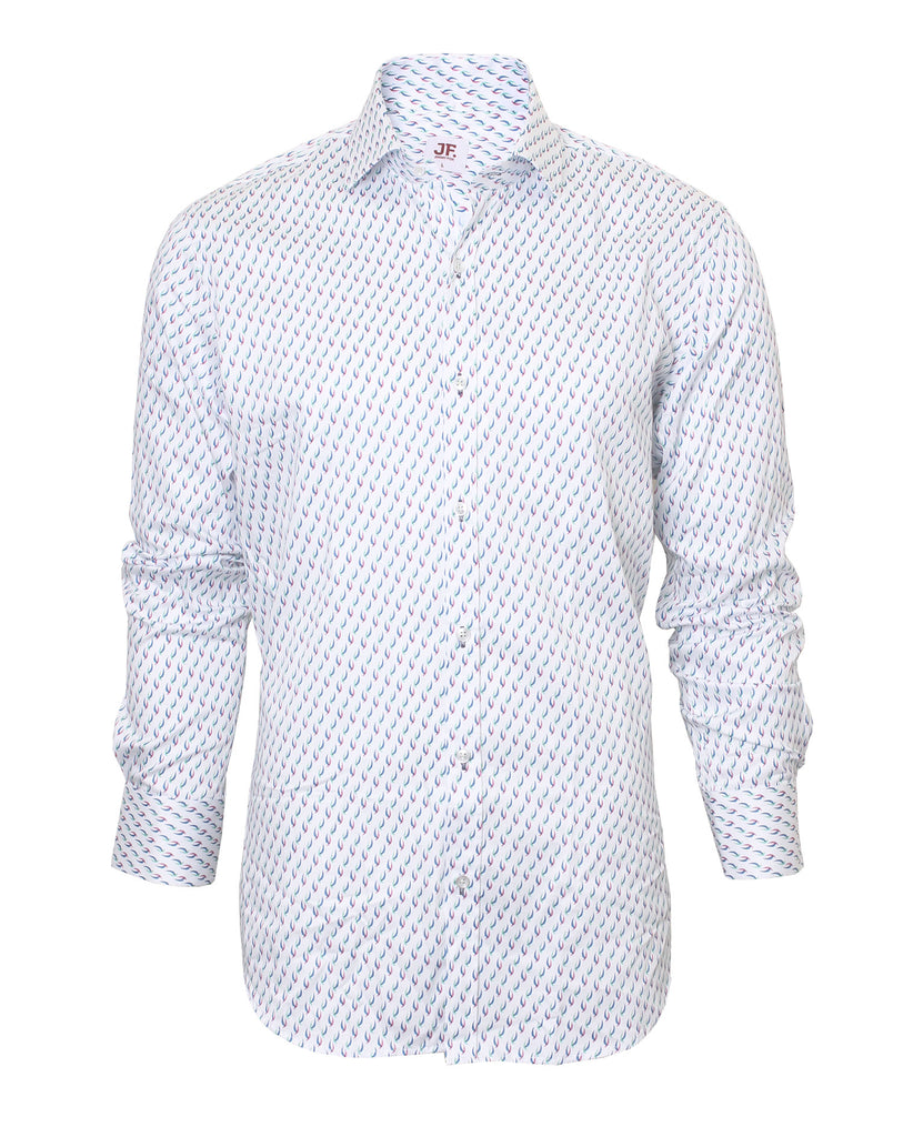 Jimmy Fox Mens Shirt white shirt with print