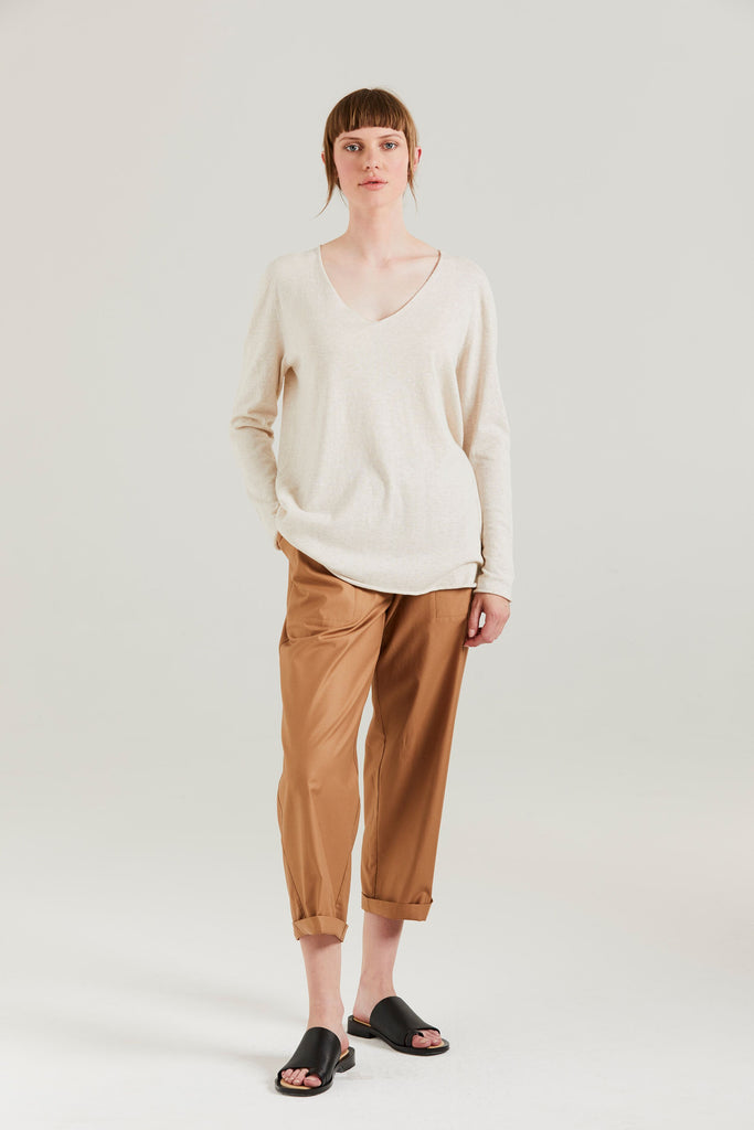 Standard Issue Kiri V Slouchy Sweater - Cashew