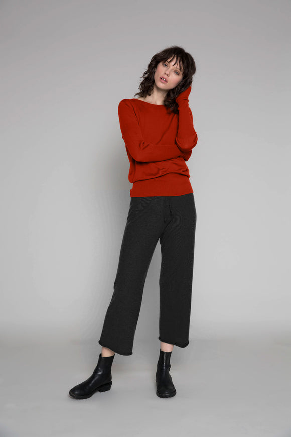 Standard Issue Long Rib Sweater - Cayenne