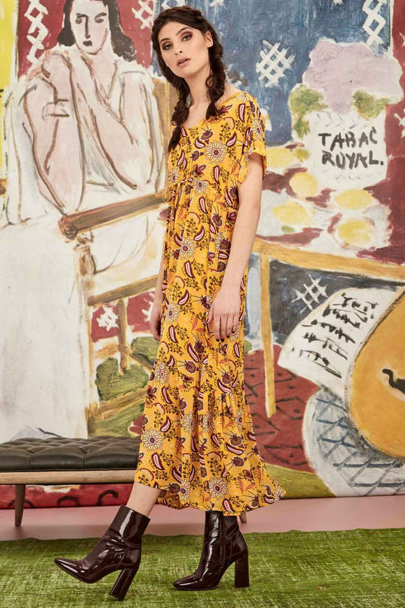 Standard Of Sheer Dress -Yellow | Shop Curate by Trelise Cooper at W&G