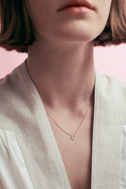 Karen Walker Mini Horseshoe Necklace | Shop at Wallace and Gibbs NZ