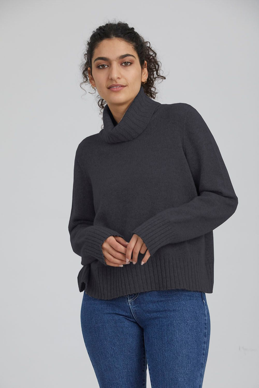 Standard Issue Cashmere Cropped Sweater | Shop at Wallace & Gibbs NZ