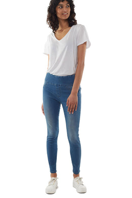 Elm Lenny Jeggings - Blue | Shop Elm at Wallace & Gibb
