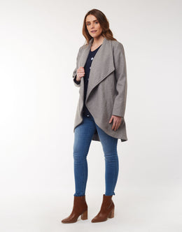Elm Agnus Coat - Grey Marle | Shop Elm at Wallace & Gibbs NZ