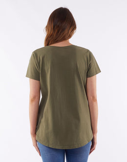 Elm All Star Tee - Khaki | Shop Elm at Wallace & Gibbs NZ