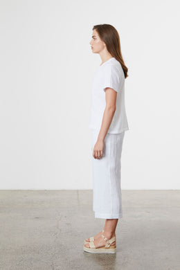 Standard Issue Linen Top - White | Shop at Wallace & Gibbs NZ