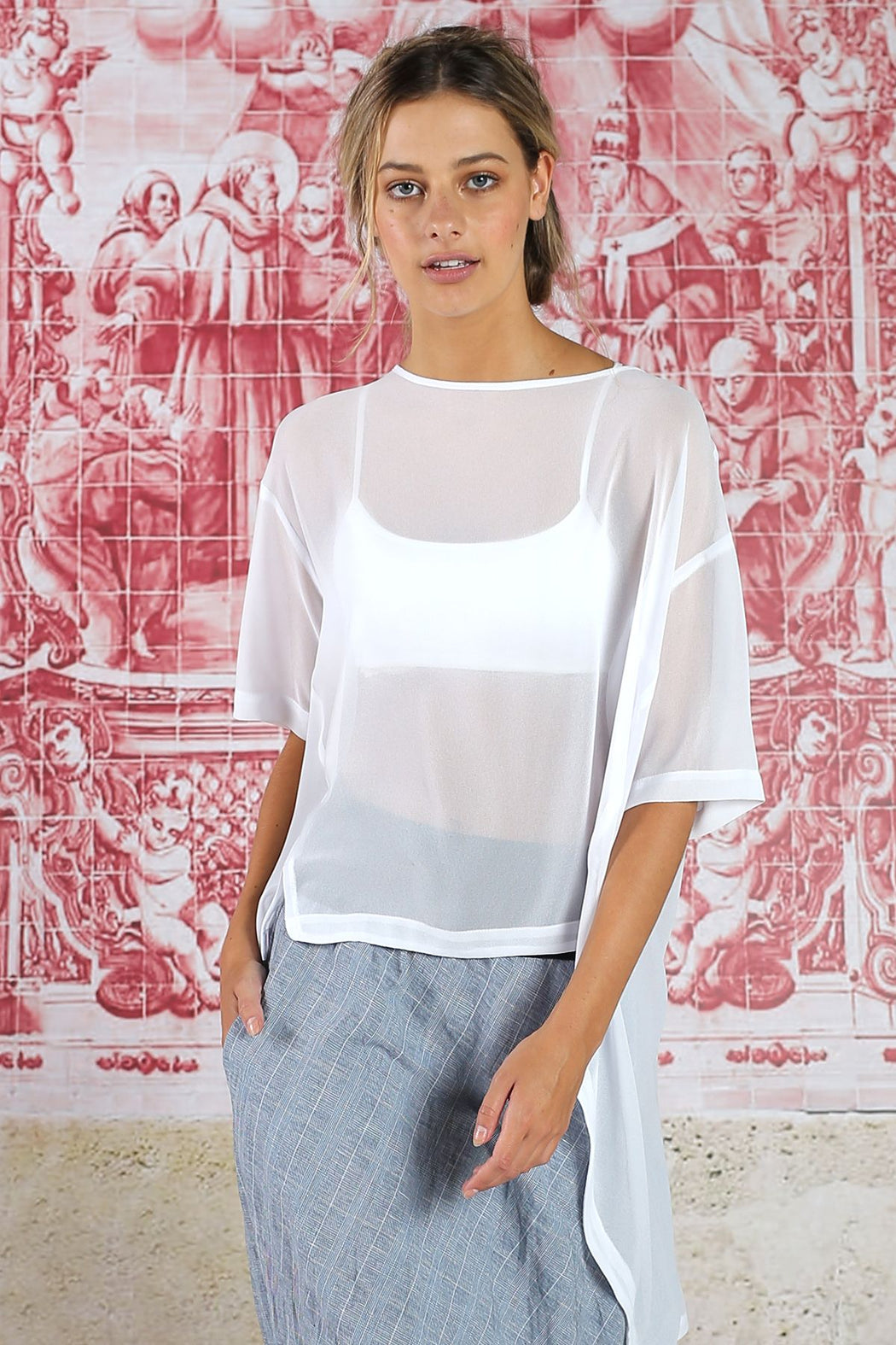 Curate Hilo Kitty Top - White | Shop Curate at Wallace & Gibbs NZ